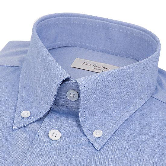 Chemise bleue oxford - Col américain