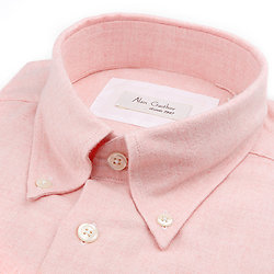 Flanelle rose aspect chambray