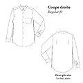 Mousquetaire - Coupe droite - Popeline