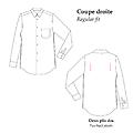 Popeline - Coupe droite