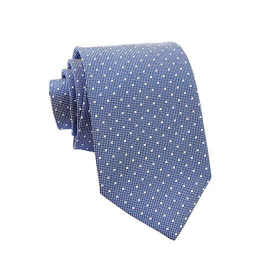 Cravate pin point bleu - blanc