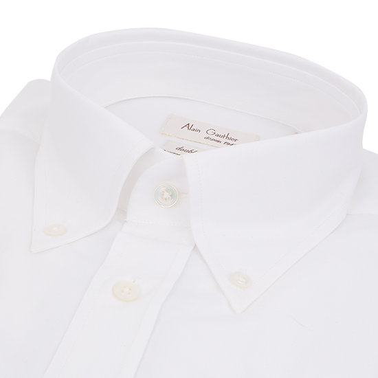 Chemise blanche oxford - Col américain