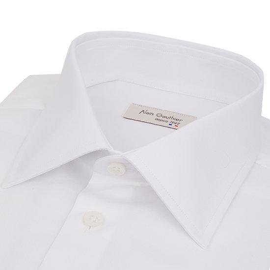 Chemise blanche en  fil à fil - Col français