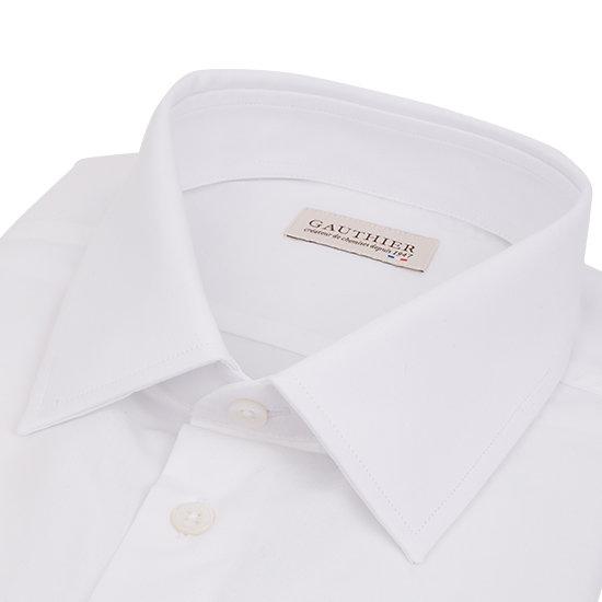 Chemise blanche en popeline - Petit col français