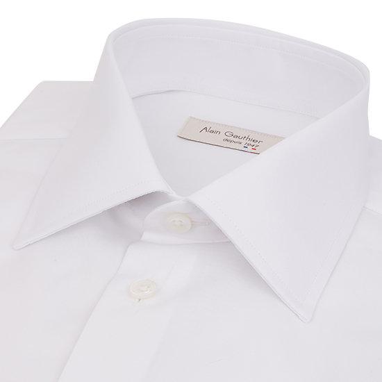 Grande longueur - Chemise blanche en fil à fil