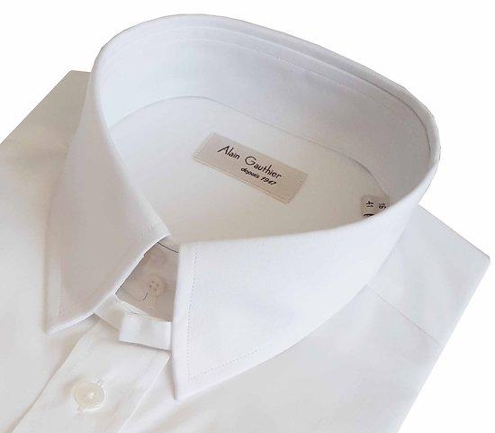 Chemise col anglais - Blanc