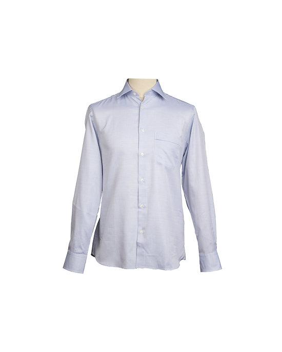 Chemise nattée blanc / marine