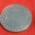 Médaille de table en bronze général DE GAULLE et sa femme Yvonne