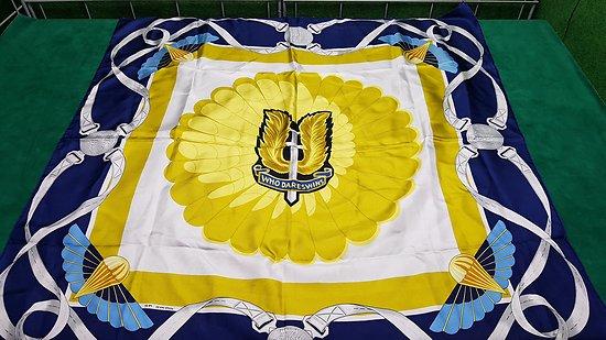 Véritable foulard en soie SAS commando para