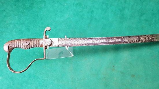 Sabre allemand artilleur de la garde