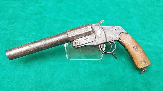 Pistolet lance fusée Allemand HEBEL régimenté mitrailleur