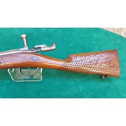 Superbe fusil chassepot personnalisé , canon miroir , crosse sculptée