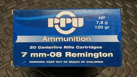 Boite de munitions 7.08 remington Partizan