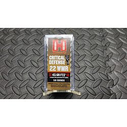 Hornady Munitions Critical Defense 22 WMR 45gr FTX X50