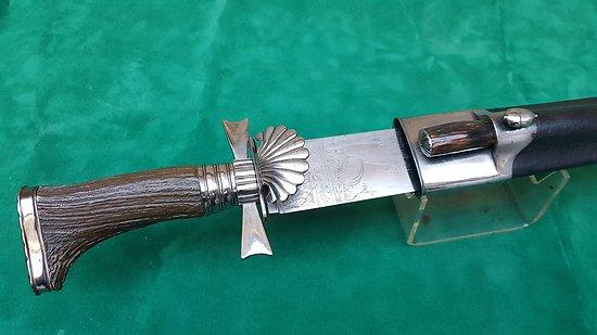 Exceptionnelle dague de chasse Peter Knecht solingen