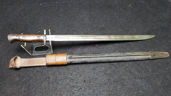 Baionnette Enfield 1907 avec gousset