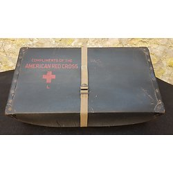 valise prisonnier de guerre US ww2 Américain red cross