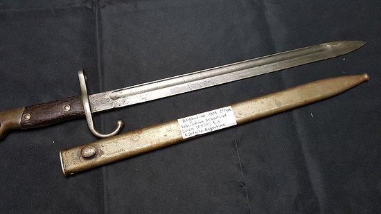 Baïonnette Argentine 1909 Mauser 2 éme type
