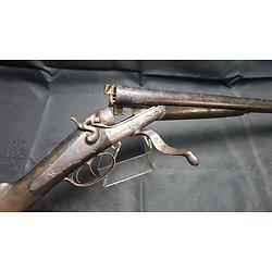 Enorme Fusil a chiens calibre 10 signé CIZERON  catégorie D