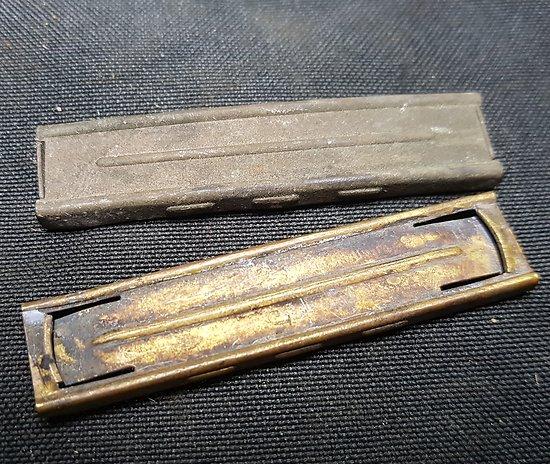 Lot de 2 Clip/Lame chargeur laiton de Mauser 98K