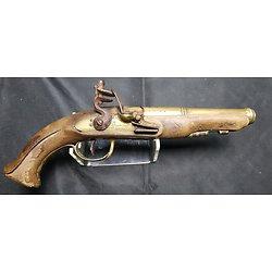 "Pistolet de Marine en Bronze signé "" Desjardin a Bayonne """