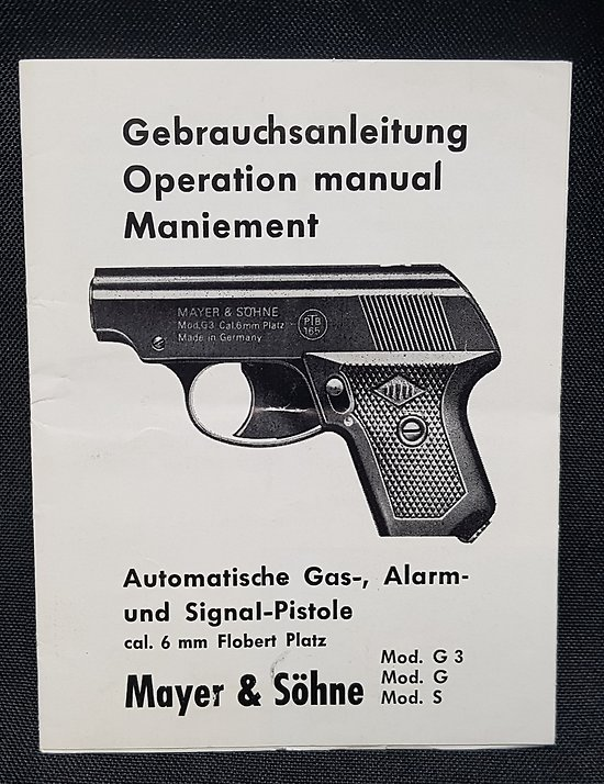 Notice pistolet Mayer & Sohne