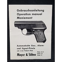 Notice pistolet Mayer & Sohne