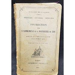Livret INSTRUCTION Armement et le matériel de tir 1935
