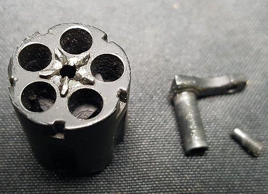 Barillet revolver a blanc little joe 6mm flobert platz