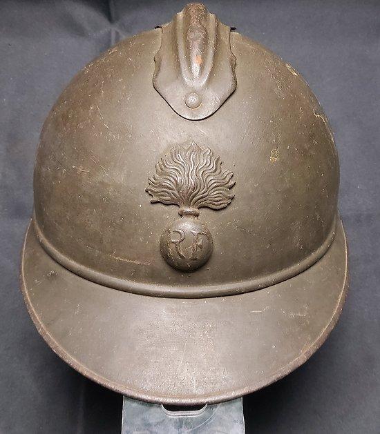 "Casque Adrian infanterie complet variante a "" rivets """