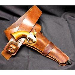 Holster ceinturon western pour revolver poudre noire