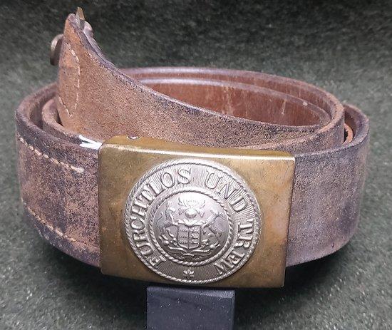 Ceinturon Allemand 1895 **  wurtemberg ** daté 1914