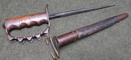 Poignard trench knife US 1917  *** 1er type *** AC.CO
