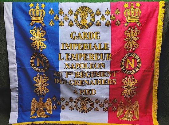 Drapeau  Napoléon ** double face