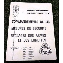 """Aide mémoire """"réglage des armes et des lunettes """""""