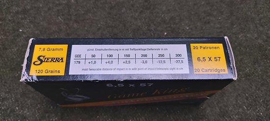 Munitions 6.5 X 57 SIERRA