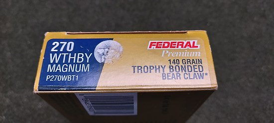 Munitions 270 Weatherby Magnum
