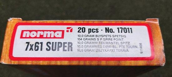 Munitions 7x61 SUPER