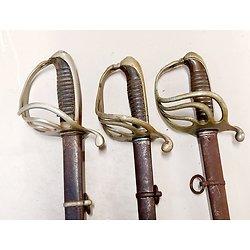 Lot de 3  Sabres 1882 Officier Infanterie