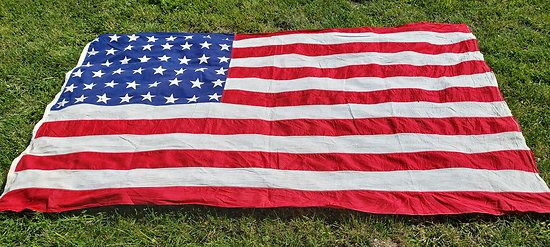 Grand drapeau US 48 étoiles ww2