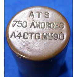 Boite ATS 750 amorces A4GTG Mle 90 pour Lebel Français WW1