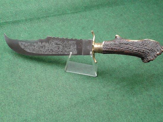 énorme couteau de chasse HERBERTZ lame gravée 50 cm bowie