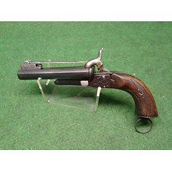gros pistolet baïonnette double canons 15mm a broche