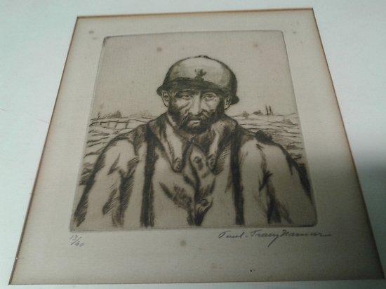 ww1 cadre sous verre dessins d un soldat français infanterie