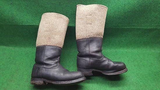 Paire de bottes hiver / grand froid allemande ww2