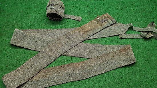 WW2 Paire de bandes molletières ersatz France 40