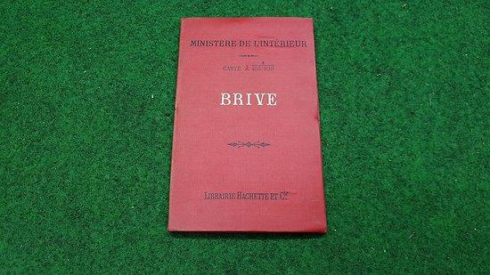 Carte d état major au 1/1000 eme ( BRIVE)
