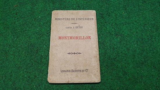 Carte d état major au 1/1000 eme   (MONTMORILLON)