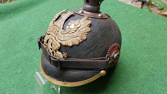 ww1 Casque a pointe 1895-15 complet