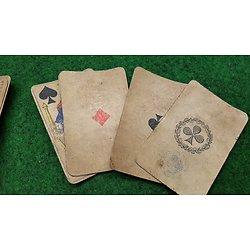 ww1 jeux de carte complet de poilu avec tampon